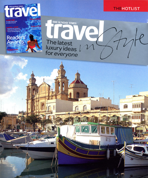 Sunday Times Travel magazine - Valletta Suites