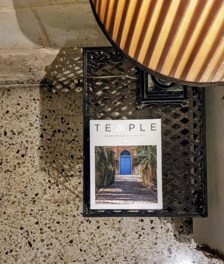TEMPLE magazine at Maison La Vallette - Valletta Suites