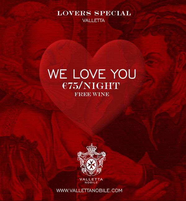 Valletta Nobile - Valentine's Day Special Offer in Valletta