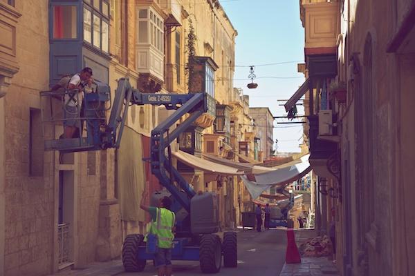 Brad Pitt in Valletta - World War Z