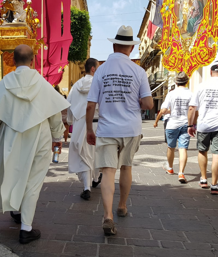 Priests in Valletta during the feast